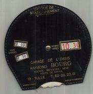 """19 . TULLE . DISQUE DE STATIONNEMENT. GARAGE DE L OASIS """" RAYMOND BOURG """" AGENCE MERCEDES BENZ . ROUTE DE BRIVE - Other"""