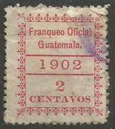 Guatemala - 1902 Official 10c Used   Sc O2 - Guatemala