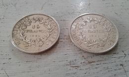 DEUX PIECES DE 10 FRANCS HERCULE 1965-1966 - L. 20 Francs