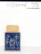 1876    Paix Et Commerce, Type Sage,78* Regommé, Cote  200 €, - 1876-1878 Sage (Type I)