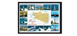 B294. France / Francia / Phares / Faros / Lighthouses / Vuurtoren / Fyr / Bretagne / Map - Lighthouses