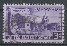 United States 1948. Scott #957 (U) Wisconsin Statehood - Etats-Unis