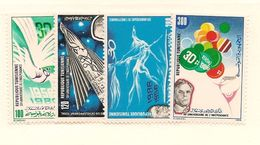 TUNISIE Scott 882-885 Yvert 1048-1051 (4) **  Cote 3,10$ 1986 - Tunisie (1956-...)