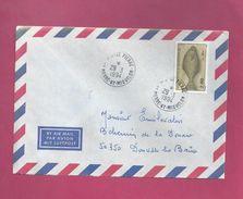 Lettre De Saint Pierre Et Miquelon Pour La France De 1994 - YT N° 583 - Poisson - Flétan - St.Pierre Et Miquelon