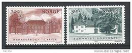 Norvège 1989 N°990/991  Série Neuve** Manoirs - Norway