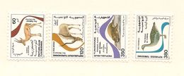 TUNISIE Scott 906-909 Yvert 1073-1076 (4) **  Cote 4,00$ 1986 - Tunisie (1956-...)