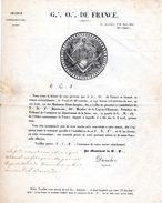 Séance Extraordinaire.-G O De FRANCE-Paris-1847- - Manuscripts