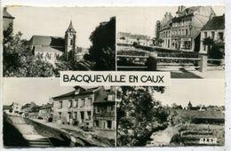 76 BACQUEVILLE ++ L'Eglise - La Place - Descente De L'Eglise - Vue Générale ++ - France