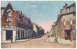 Cpa Merville - Rue Des Capucins ( Commerces Banque Générale Du Nord / Tabacs ) - Merville