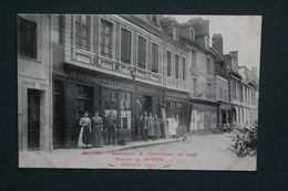 27 EURE MAISON J. BOYER MERCERIE BONNETERIE VERNEUIL ANCIENNE MAISON F. DELIGNOU - Verneuil-sur-Avre