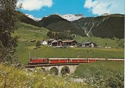DIE FURKA-OBERALP-BAHN BEI DISENTIS   TRAIN - GR Graubünden