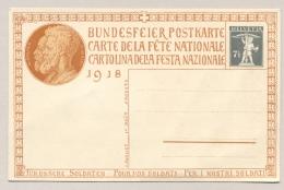 Schweiz - 1918 - 7,5c Tellknabe Bundesfeier Postkarte Für Unsere Soldaten - Not Used - Stamped Stationery