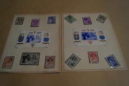 Superbe Série Complète Abbaye D'Orval 1942,12 Timbres + 2 Feuillet Non Dentelés Et Dentelés,neuf Avec Gomme - Other