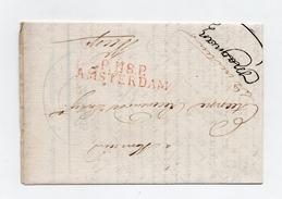 !!! PRIX FIXE : DEPT CONQUIS, 118 DEPT DU ZUIDERSEE, MARQUE POSTALE PORT PAYE D'AMSTERDAM SUR LETTRE DE 1812 - Postmark Collection (Covers)