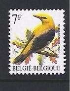 BELGIQUE - BELGIE 2476 Verschoven Druk GELE KLEUR - Variétés Et Curiosités