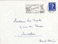 ALS 135 - FRANCE Flamme Sur Lettre SCHILTIGHEIM Capitale De La Bière D'Alsace 1958 - Marcophilie (Lettres)