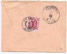 Busta Sesana -> Flitsch Viaggiata 1897- Bollo Austriaco Apertura Strappata - 1850-1918 Empire
