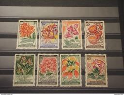 COTE D'IVOIRE - 1961/2  FIORI  8 Valori - NUOVI(++) - Costa De Marfil (1960-...)