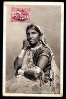 CPA ANCIENNE ANTILLES- TRINIDAD- EST INDIAN- FEMME EN COSTUME LOCAL- TRES GROS PLAN- 1929 - Trinidad