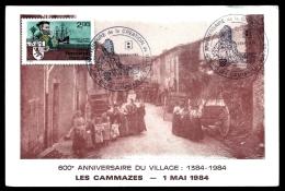 CPA ANCIENNE FRANCE- CAMMAZES (81)-  600° ANNIVERSAIRE DU VILLAGE- 1384-1984- RUE DE LA PASSE TRES ANIMÉE EN 1910- - France