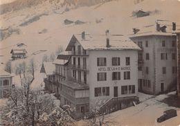 Photographie Circa 1920 : Hotel De La Croix St Saint Maurice à Le Grand Bornand - Lieux