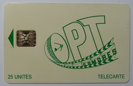 COMORES - Schlumberger - 1st Issue - OPT - No Control - 25 Units - Used - Komoren