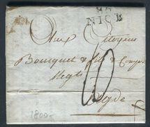 France - Lettre Avec Texte De Nice Pour Adge En 1800 - Ref N 213 - 1701-1800: Precursors XVIII