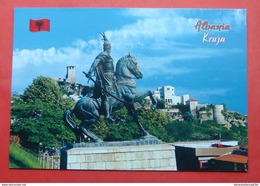 ALBANIA CITY OF KRUJA, THE MONUMENT OF GEORGE KASTRIOT SCANDERBEG - Albania