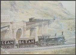 High Summer At Cymmer Afan, Glamorgan - National Museum Of Wales Postcard - Trains