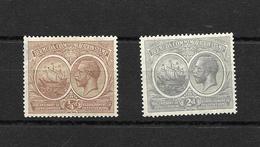 Bermuda 1920 KGV Tercentenary 1/4d Brown And 2d Grey MM, See Notes (5332) - Bermuda