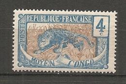 CONGO - Yv. N° 50  *  4c  Panthère  Cote 1 Euros  BE 2 Scans - Congo Français (1891-1960)