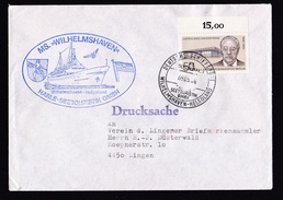 Germany: Cover, 1986, 1 Stamp, Posted At Sea, Ship Mail, Ferry Wilhelmshaven-Helgoland (traces Of Use) - Brieven En Documenten