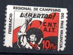 Viñeta Politica  C.n.t- A.iT, Federacion Regional De Campesinos Del Pais Valencia. - Viñetas De La Guerra Civil