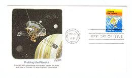 USA PROBING THE PLANETS SPACE PIONEER 10 FDC 1981 - FDC & Gelegenheidsboekjes
