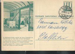 Carte De Service  Chemins De Fer SBB-CFF. N° Zumstein 2009 N° 54a. - 006  Obl: Fribourg - Gare 30/12/1954 - Enteros Postales