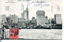 N°59180 -cpa Nex York -scène From Hudson- - Hudson River