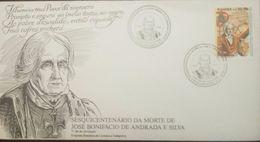 L) 1988 BRAZIL, SESQUICENTENARY OF THE DEATH OF JOSE BONIFACIO DE ANDRADA AND SILVA, POET, POLITICAL, NATURIST, - FDC