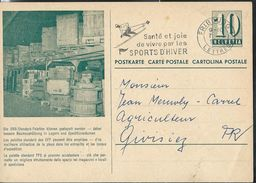Carte De Service  Chemins De Fer SBB-CFF. N° Zumstein 2009 N° 54e. - 005  Obl: Fribourg - Lettres 07/01/1960 - Enteros Postales