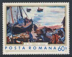 "Romania Romana Rumänien 1971 Mi 2974 YT 2629 ** ""Fishing Boats"" / Am Meer - Max W. Arnold (1897 - 1946) - Kunst"