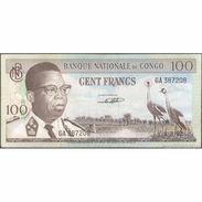 TWN - CONGO 6a - 100 Francs 1.3.1962 GA 387208 AVF - Zonder Classificatie