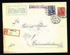 A4989) DR R-Brief Berlin 21.11.14 Mit Perfin G&G - Deutschland