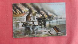 US Civil War  Destruction Of The Merrimac Ref 2725 - Krieg