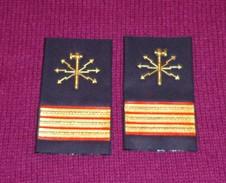Primo Maresciallo ELETTRICISTA - MARINA  MILITARE ITALIANA - COPPIA DI GRADI TUBOLARI - Come Nuovi - Marine