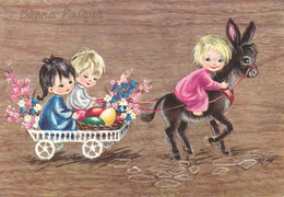 FESTE - Buona Pasqua - Happy Easter - Feliz Pascua - Joyeuses Pâques - Frohe Ostern - Asinello E Bambini - Donkey - Pasqua
