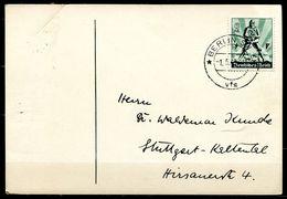 """German Empires1940 Stempelkarte M.Mi.Nr.745""""Tag Der Arbeit"""" U.TST""""Berlin SW68""""1Beleg - Deutschland"""