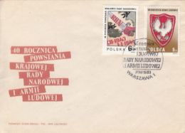 67277- NATIONAL COUNCIL, PEOPLE'S ARMY, WW2, HISTORY, COVER FDC, 1983, POLAND - 2. Weltkrieg