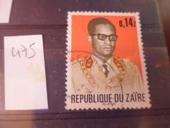 ZAIRE TIMBRE N°475 - Zaïre