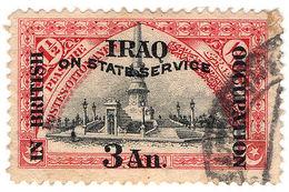(I.B) Iraq Postal : British Occupation : 3a On 1½pi (State Service) - Iraq