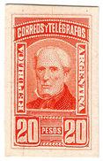 (I.B) Argentina Postal : 1890 Colour Trial (Die Proof) 20 Pesos - Argentine