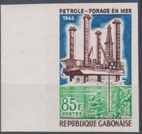 Gabon 1966  N° 197  Petrole Forage En Mer  Imperf ND MNH - Gabon (1960-...)